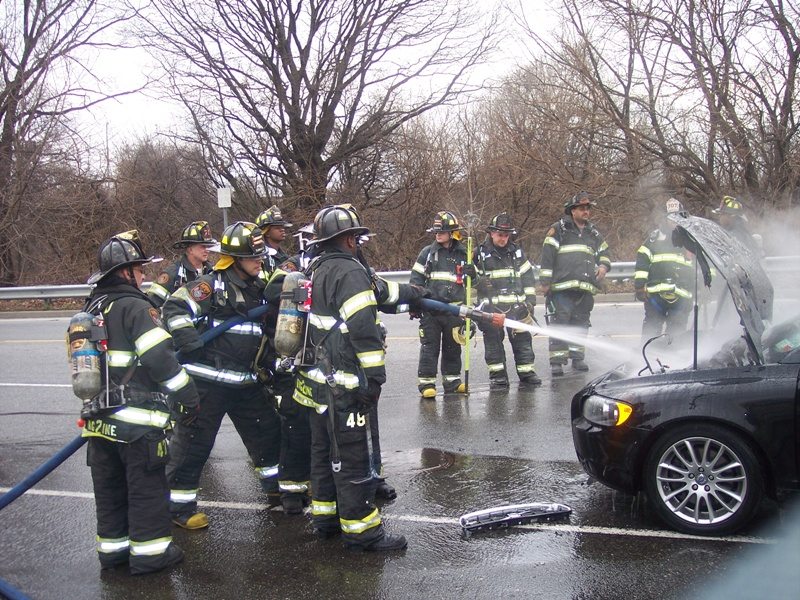 MVA with car fire